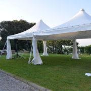 rental tents and small shells Tuscany