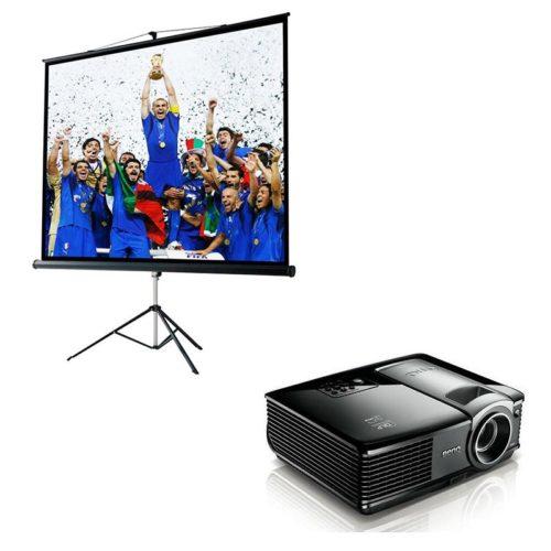 Kit videoproiettore 3000AL Schermo Treppiedi 213x213